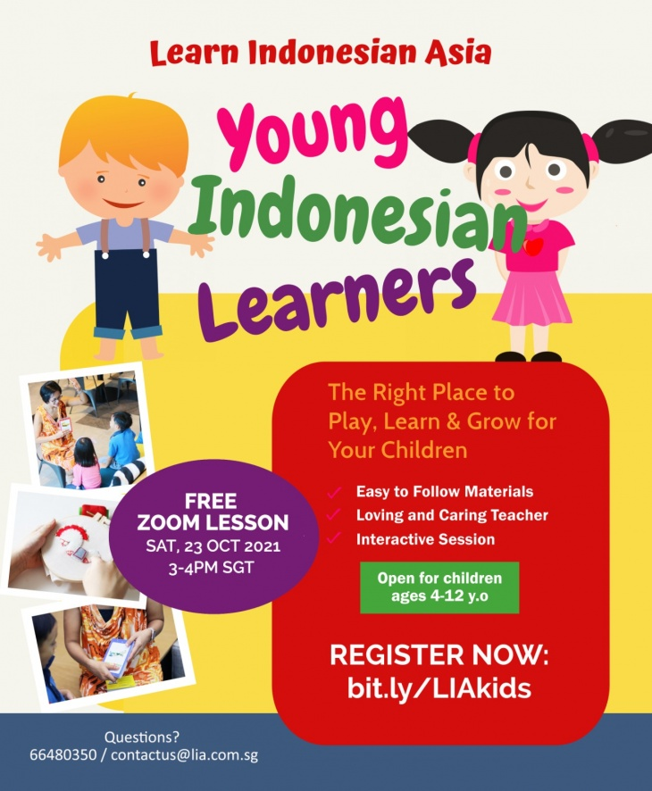 Free Zoom Lesson - Introductory Indonesian for Kids