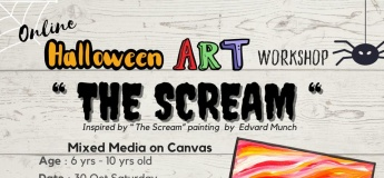 Halloween Art Workshop - The Scream with Absolute Minds Pte Ltd