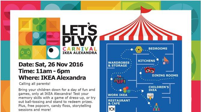 Let's Play Carnival at IKEA Alexandra | Tickikids Singapore