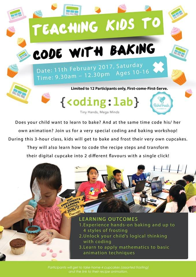 Teaching Kids to Code through Baking | Tickikids Singapore