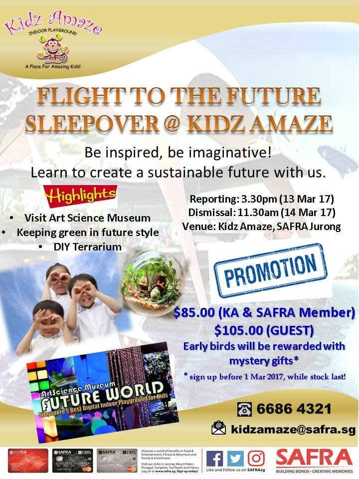 Flight to the Future: Sleepover @KidzAmaze