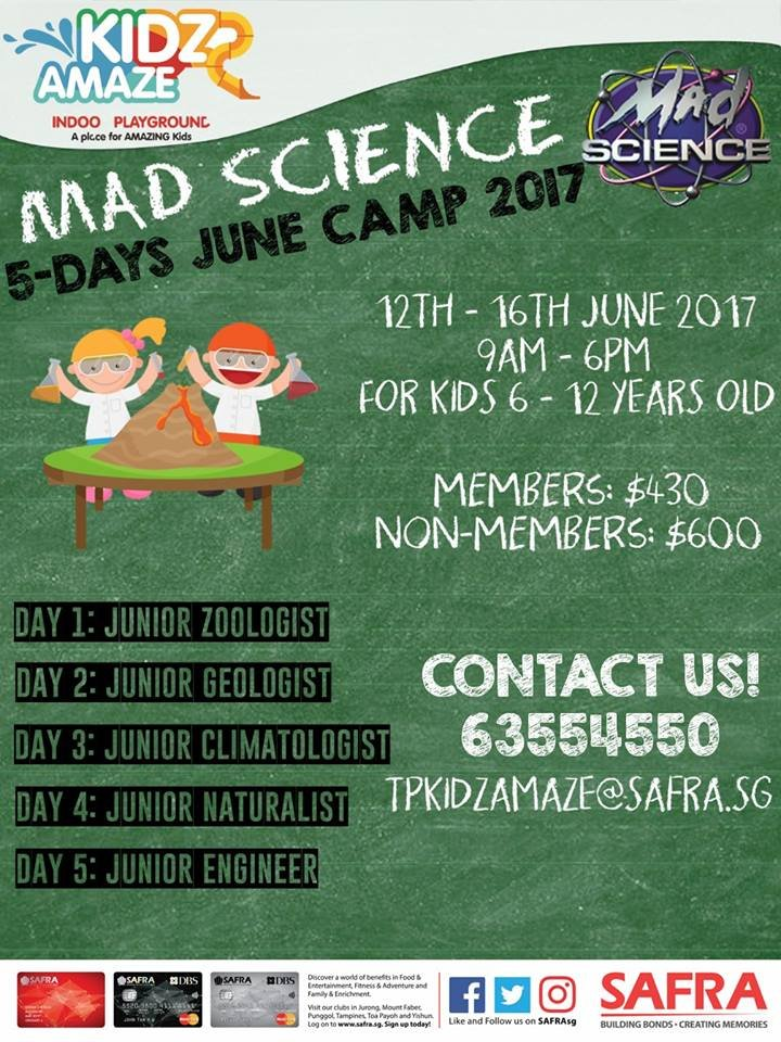 Mad Science: 5-days June Camp