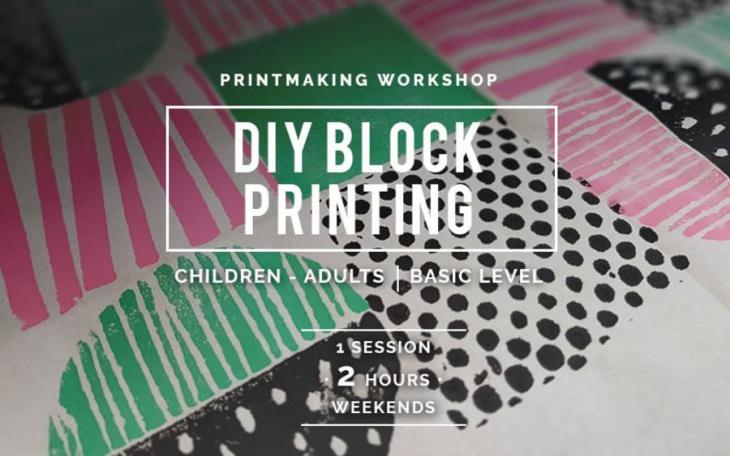 DIY Block Printing Workshop | Tickikids Singapore