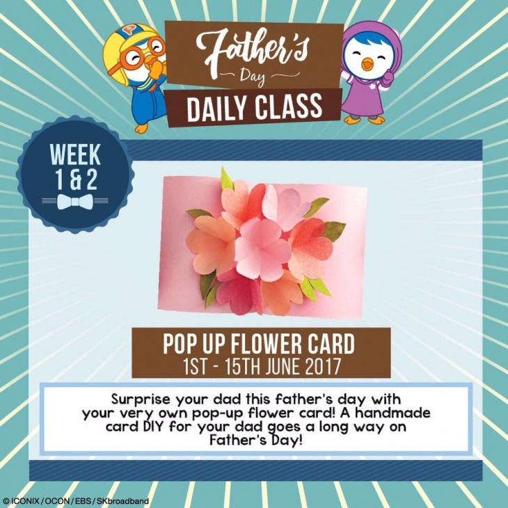 June Special: Father's Day Themed! Pop Up Flower Card