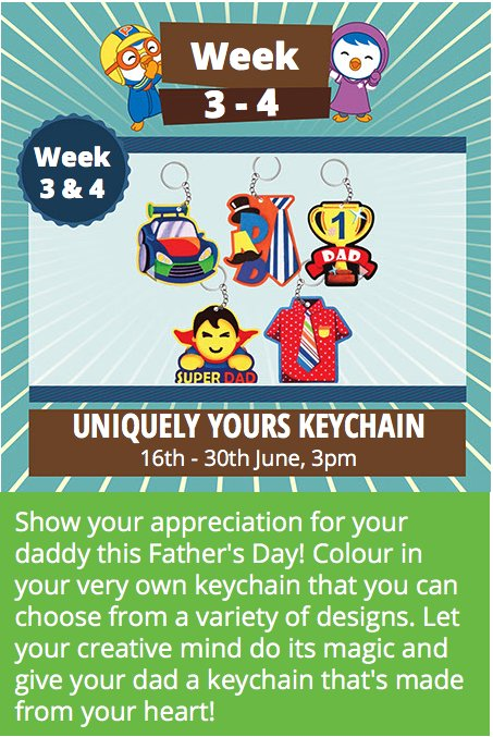 June Special: Father's Day Themed! Uniquely Yours Keychain