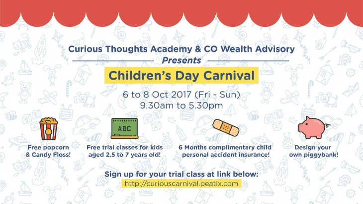 Children S Day Carnival By Curious Thoughts Co Wealth Advisory Tickikids Singapore