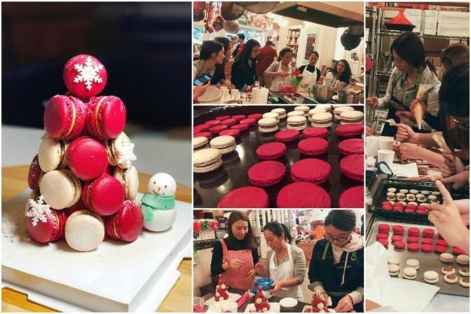 Christmas Macarons.Mini Christmas Macaron Tower Demo Class Tickikids Hong Kong