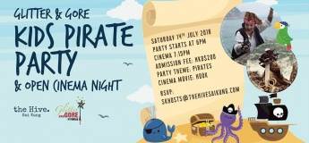 Glitter and Gore Kids Pirate Party and Open Cinema Night