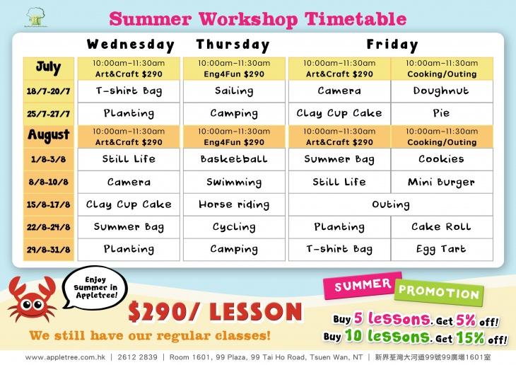 Summer English Art Workshops