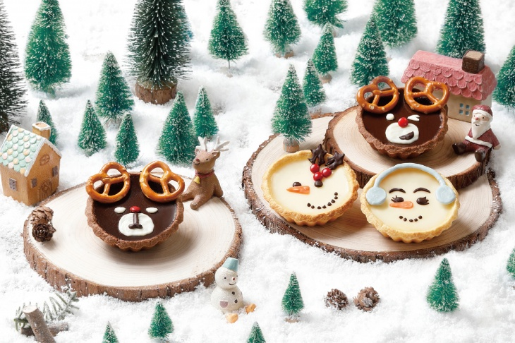 (Parent-Child Class) Deer-look Chocolate Tart and Snowman-look Fresh Milk Tart Class