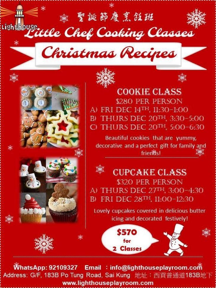 Little Chef Cooking Class Christmas Recipes Tickikids Hong Kong
