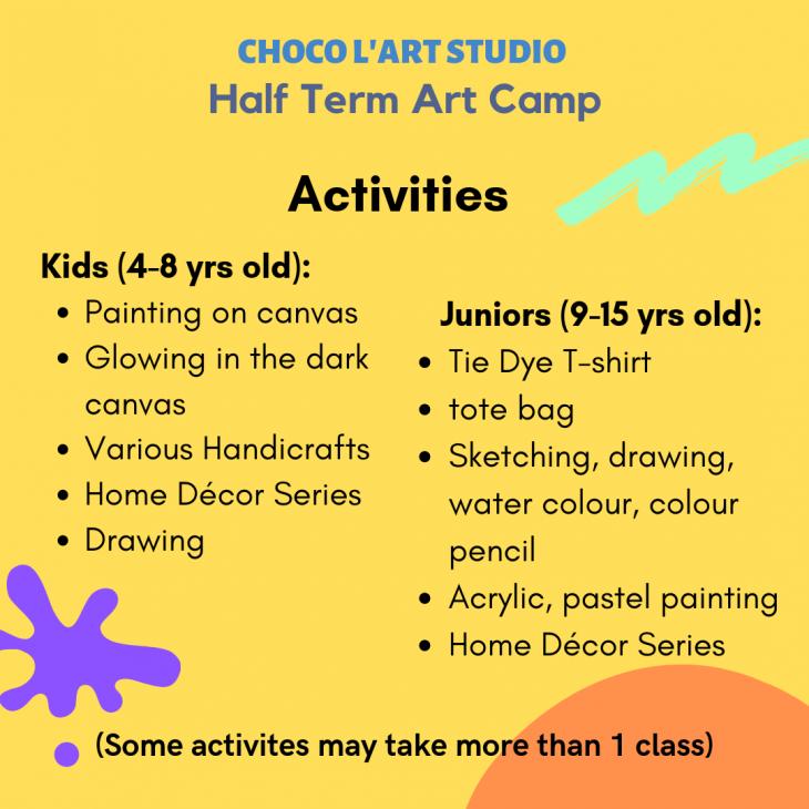 October Half Term Art Camp 2019