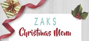 Zaks Christmas Menu