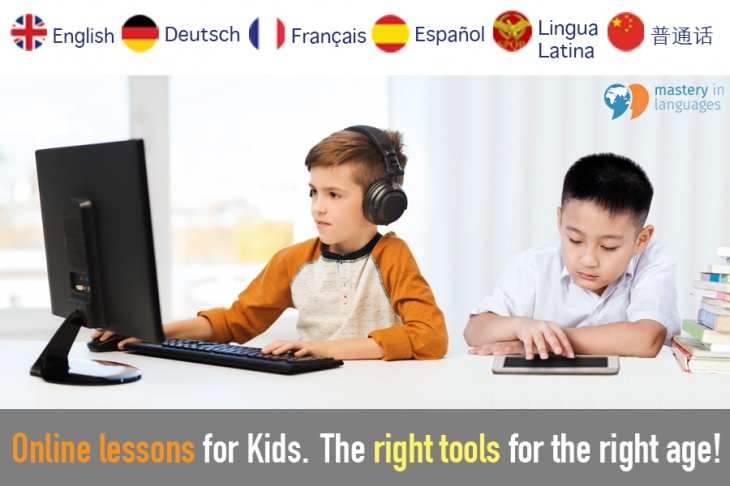 English, French, German, Spanish online classes