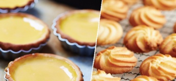 (Parent-Child Class ) Egg Tart in Butter Cookie Crust and Pressed Butter Cookies