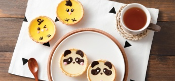(Parent - Child Class) Panda-look Fresh Milk Tart and Chick-look Egg Tart Class