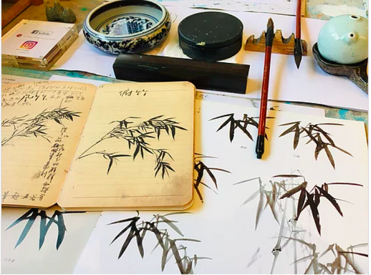 Online Group Beginners Chinese Ink Painting | One-Off Class + Basic Tools Kit