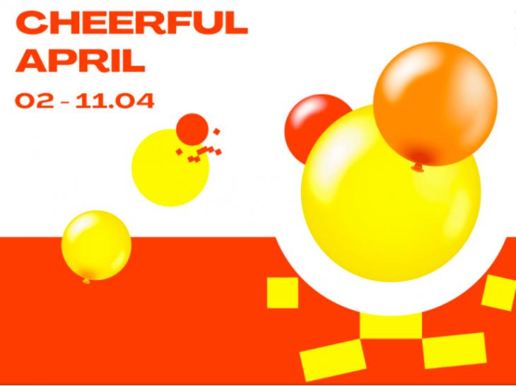 Cheerful April