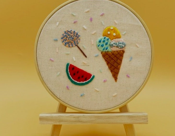 Sew a Sweet Summer with Dessert-themed Embroidery
