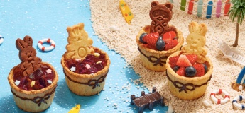 (Parent-child Class) Animal cookie jelly and mixed fruit tart