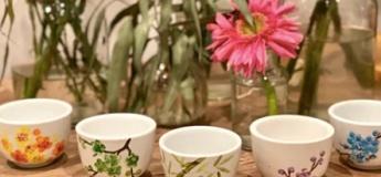 Online Group Teacups Painting Workshop + Tools Kit