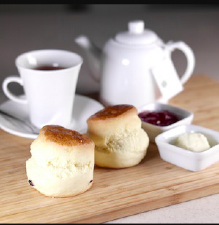 Cranberry Scones / Cheese Scones / Olive & Onion Scones served with Rodda's Clotted Cream