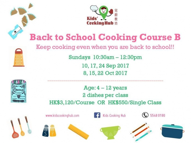 Back to School Cooking Course B