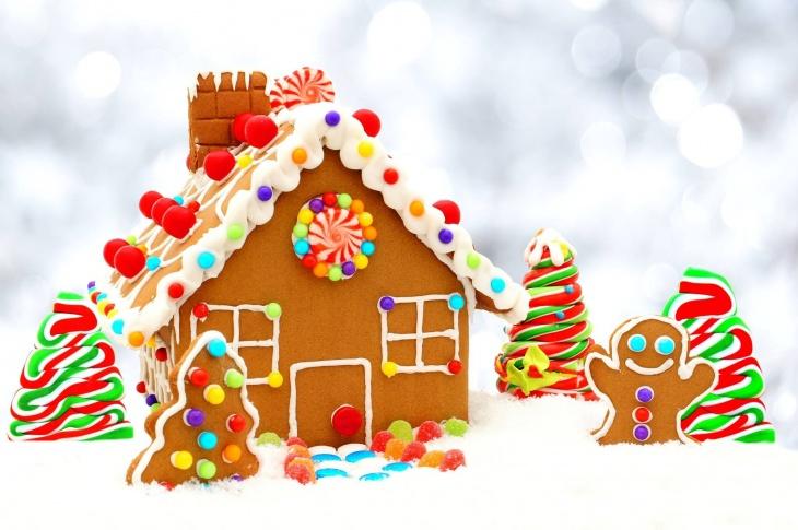 Christmas Gingerbread House Decorations.Gingerbread House Decoration Christmas Tree Lighting Tickikids Abu Dhabi