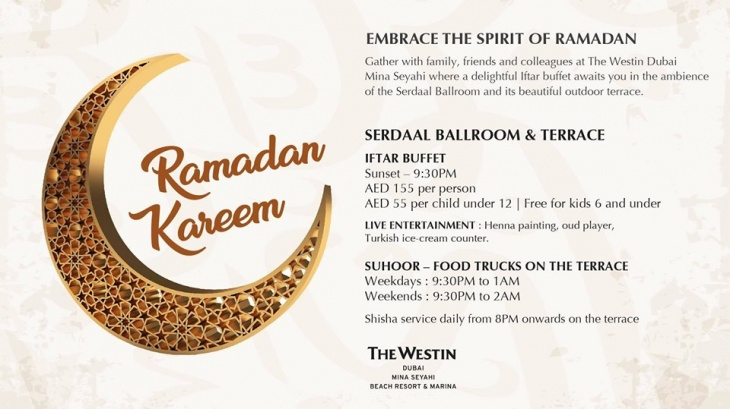 Iftar at The Westin Dubai Mina Seyahi