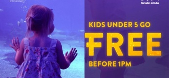 Ramadan Offer: Kids under 5 go FREE before 1pm