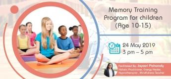 Memory Training Program for children (Age 10-15) with Jayasri
