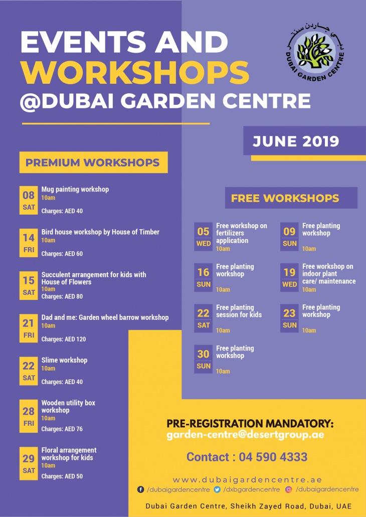Events and Workshops: June 2019 @ Dubai Garden Centre