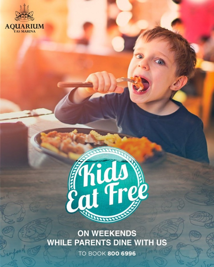 Kids Eat Free at Aquarium Seafood
