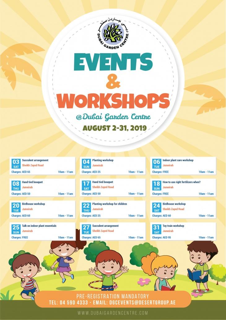 Events & Workshops @ Dubai Garden Centre: August 2 - 31