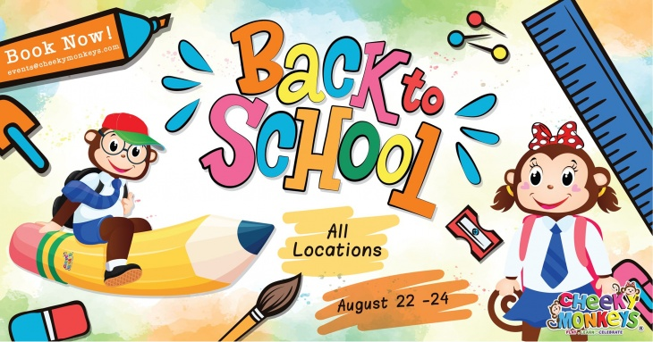 Back to School Party @ Cheeky Monkeys 2019