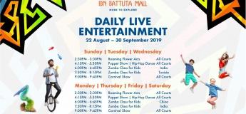 Ibn Battuta Mall September Entertainment
