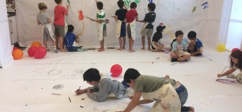 Painting on the wall for kids