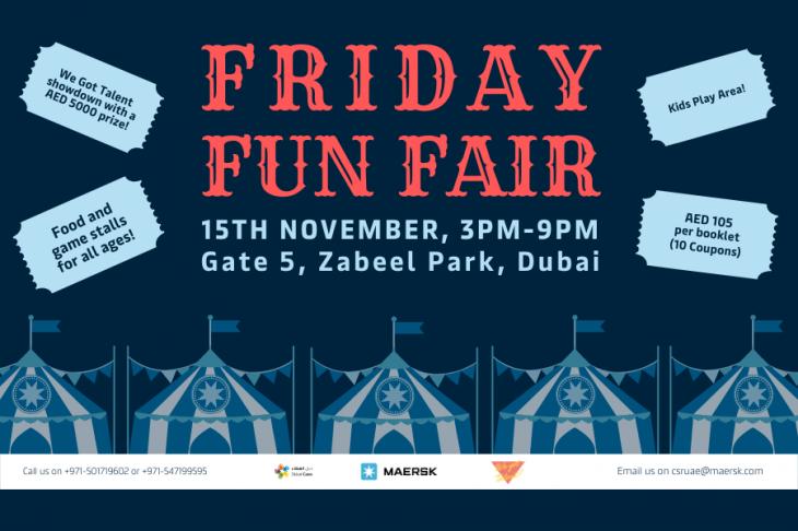 Friday Fun fair at Maersk CSR Event 2019