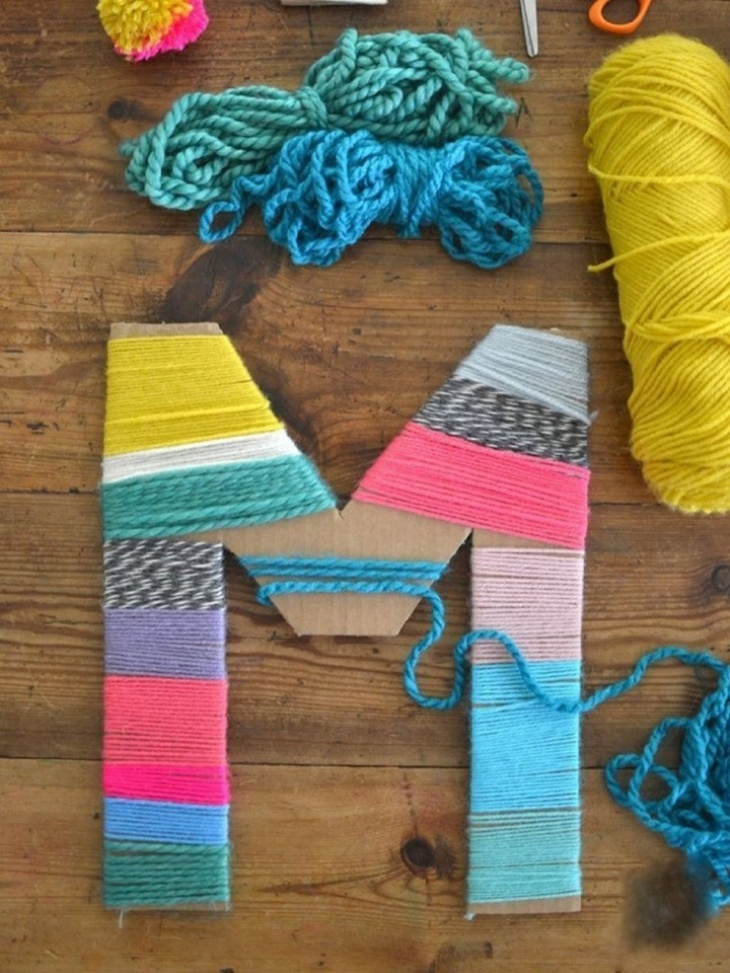 Yarn Wrapped Name Initials