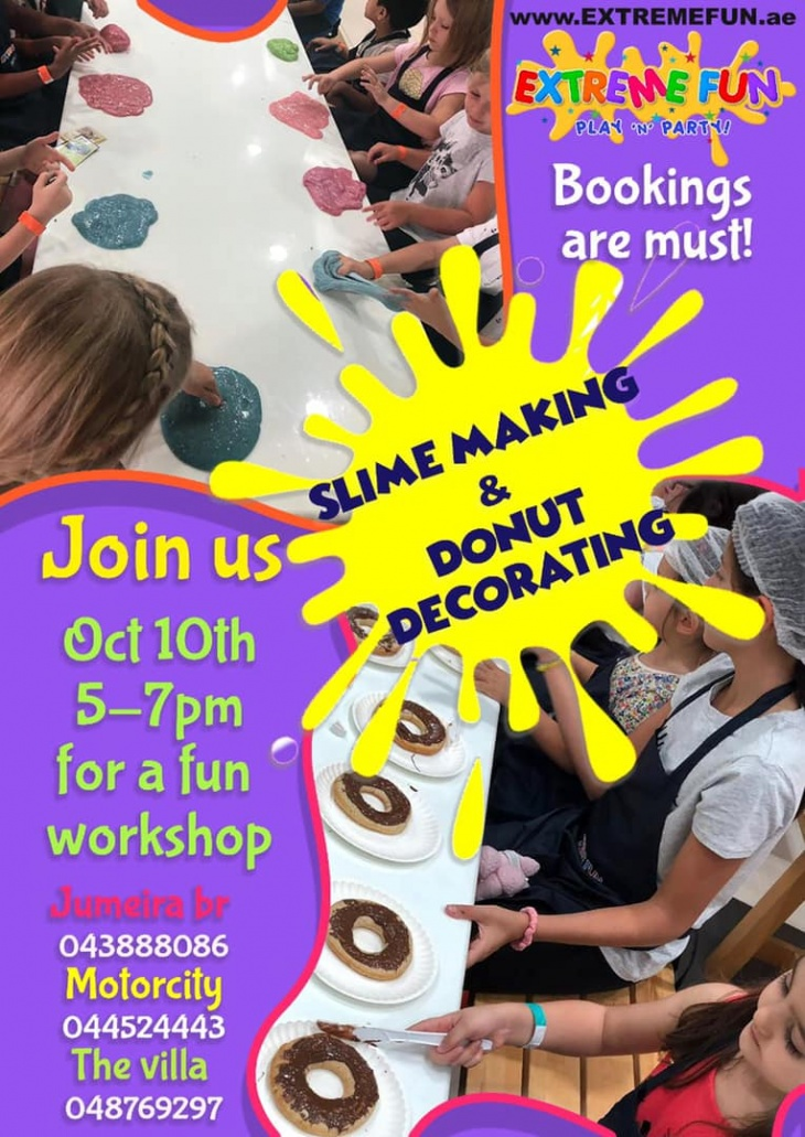 Slime Making and Donut Decorating
