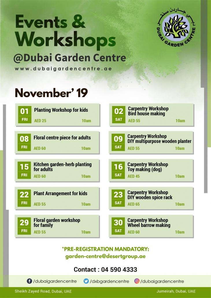 Events and Workshops: November 2019