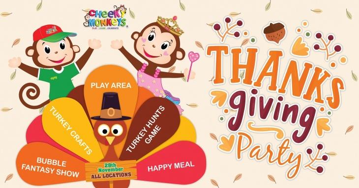 Thanksgiving Party @ Cheeky Monkeys