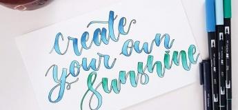 English Brush Pen Calligraphy Workshop for Beginners