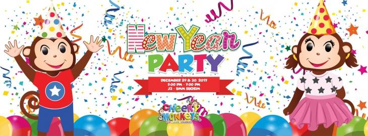 Cheeky Monkeys J3 Mall, Umm Suqueim branch New Year Party!