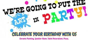 Birthday Parties @ StepUp Ceramic Cafe