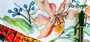 Online Workshop: Contour Drawing and Watercolors