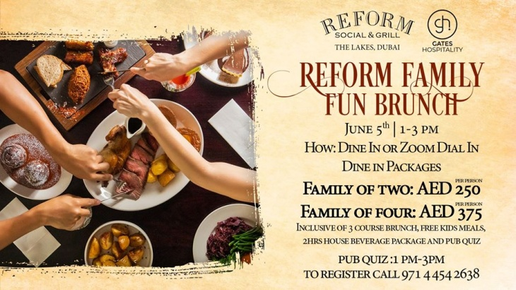 Family fun brunch - kids eat free - pub quiz