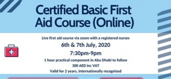 Certifited Basic First Aid Course (Online)