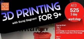 3D Printing  Workshop (for 9+ age)