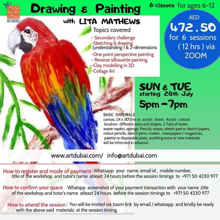 Drawing and Painting Classes (via Zoom)